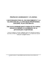 ANEXO II B CPD Cuestionario Perfil docente Atlántida-Extremadura y centros